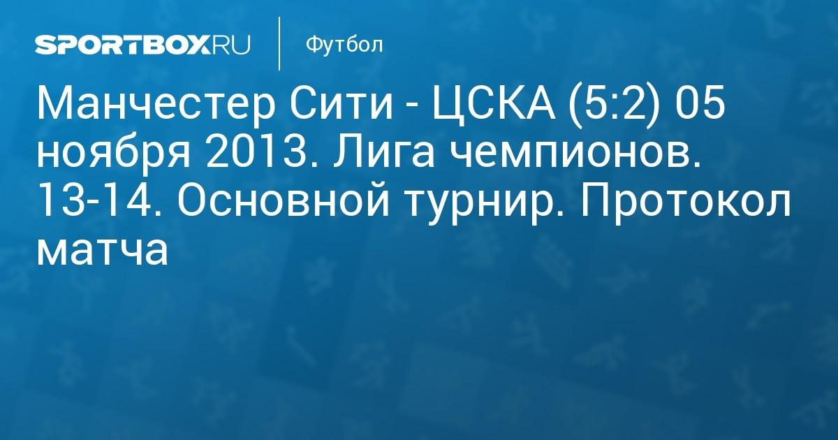 Лига чемпионов цска манчестер сити трансляция 5 ноября