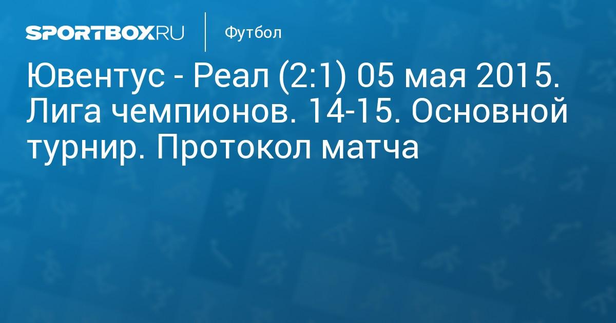 Ювентус реал мадрид счет 14. 05. 15