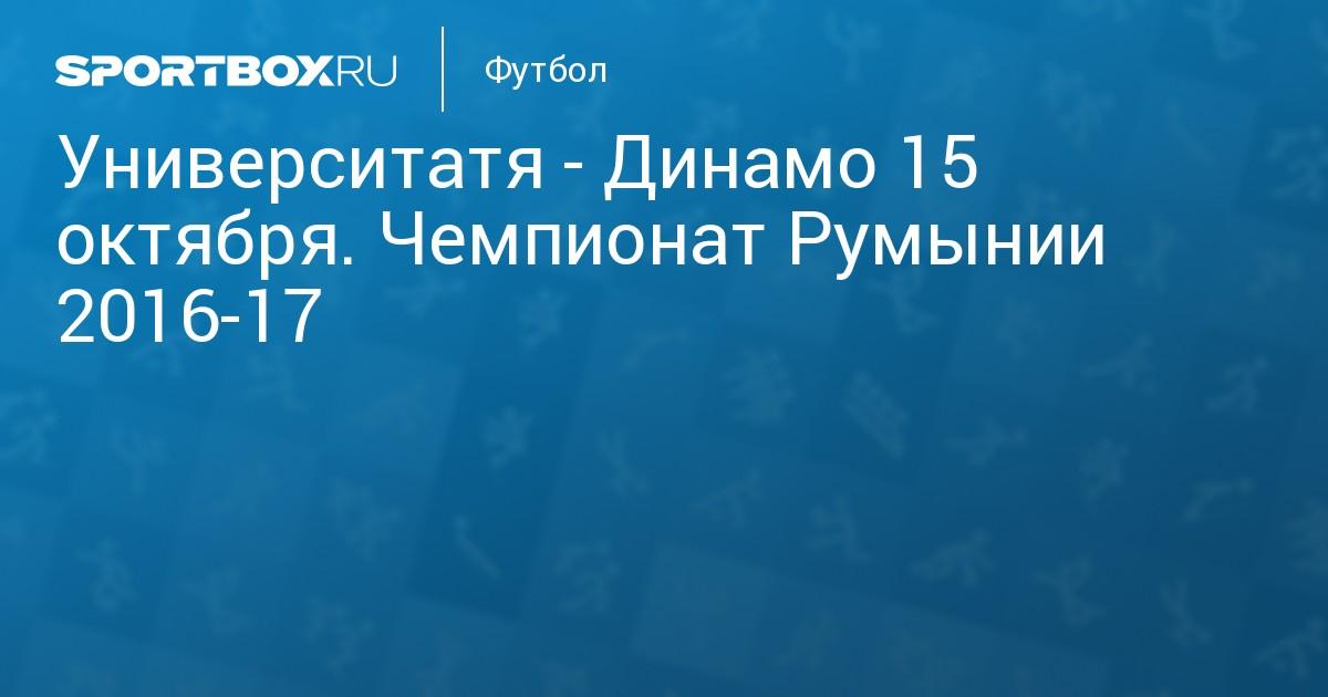 Бухарест университатя-динамо прогноз матча