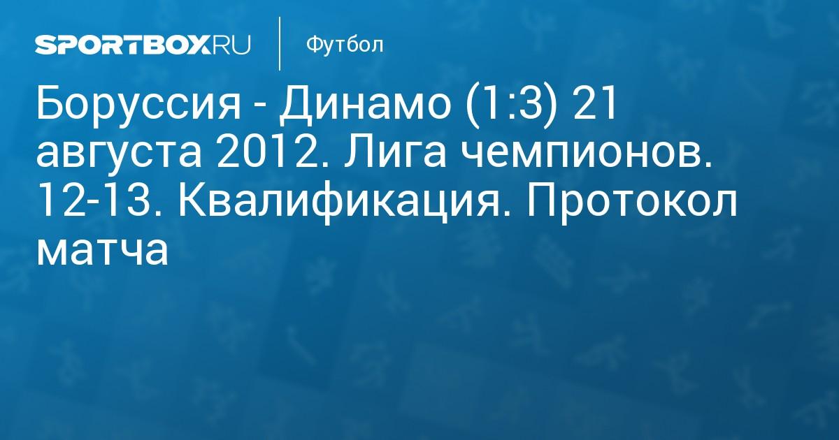 Динамо- боруссия 21 августа