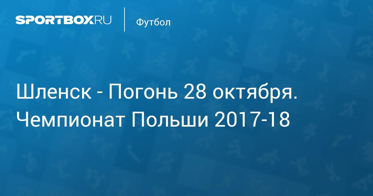Ставки на матч Погонь Щецин Шлёнск