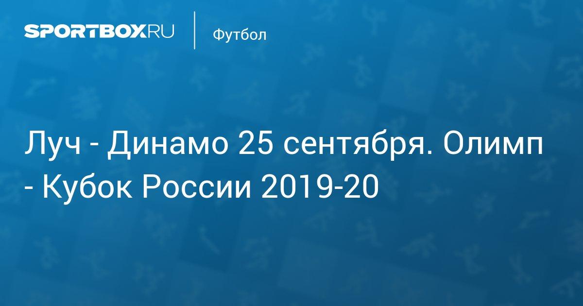 Луч – Динамо Москва 25 сентября прямой эфир