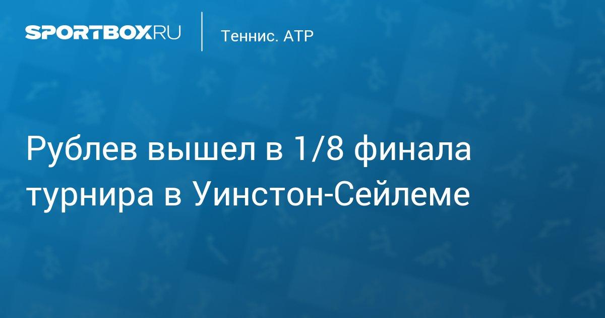 Рублев вышел в 1/8 финала турнира в США - news.Sportbox.ru