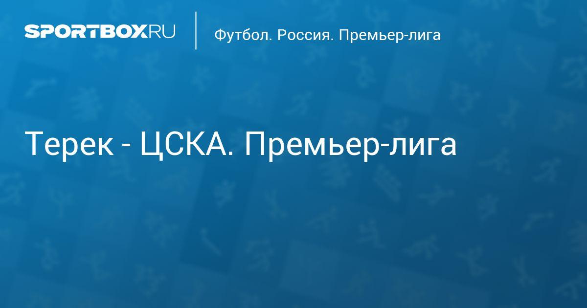 Футбол. Терек - ЦСКА. Премьер-лига