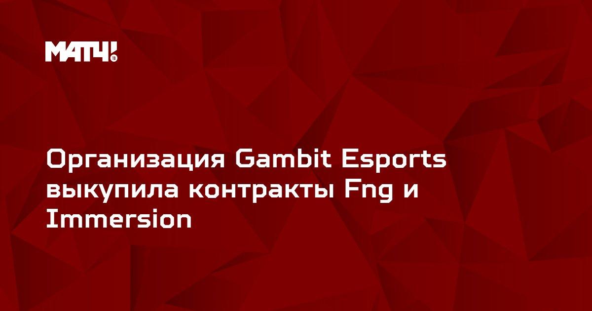 Организация Gambit Esports выкупила контракты Fng и Immersion