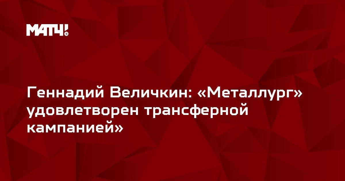 Геннадий Величкин: «Металлург» удовлетворен трансферной кампанией»