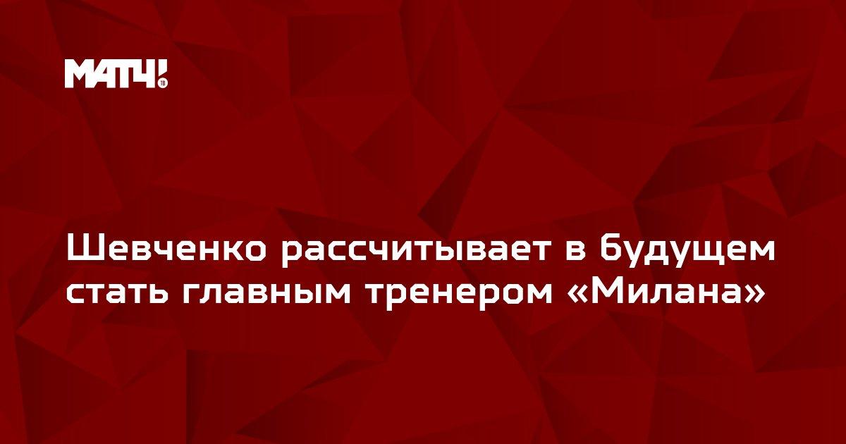 Шевченко рассчитывает в будущем стать главным тренером «Милана»