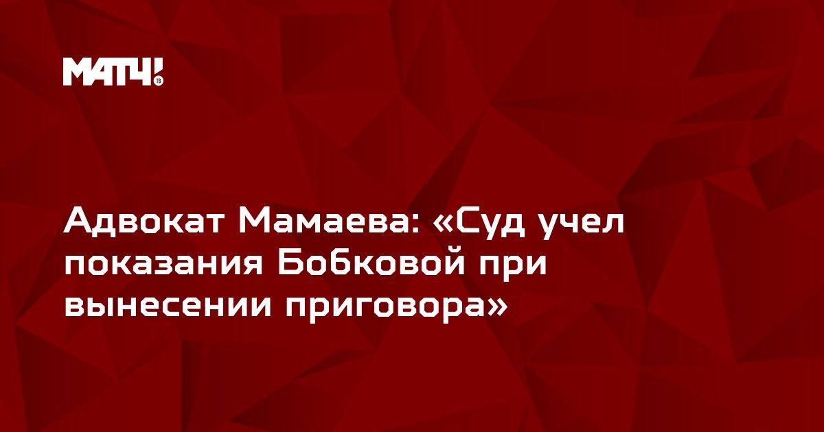 Адвокат Мамаева: «Суд учел показания Бобковой при вынесении приговора»