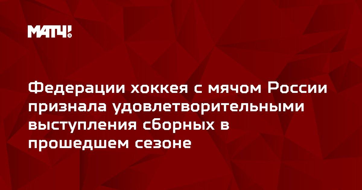Федерации хоккея с мячом России признала удовлетворительными выступления сборных в прошедшем сезоне