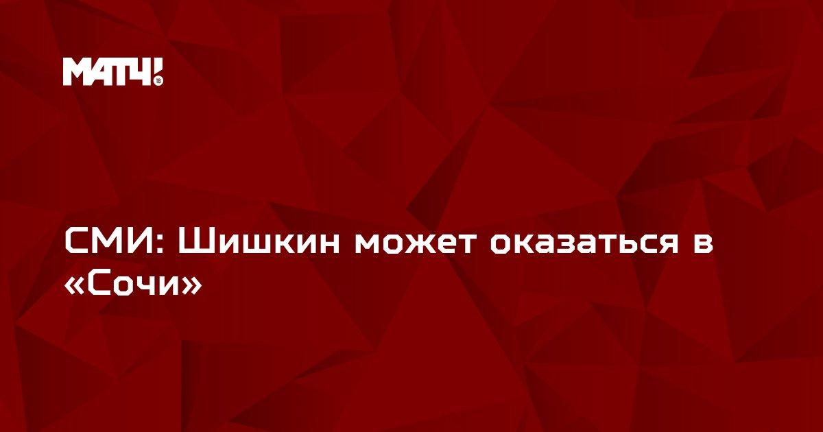 СМИ: Шишкин может оказаться в «Сочи»