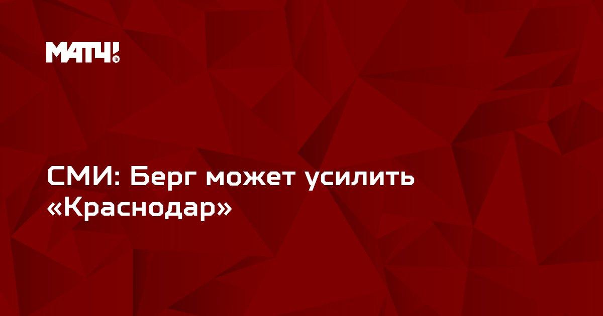СМИ: Берг может усилить «Краснодар»
