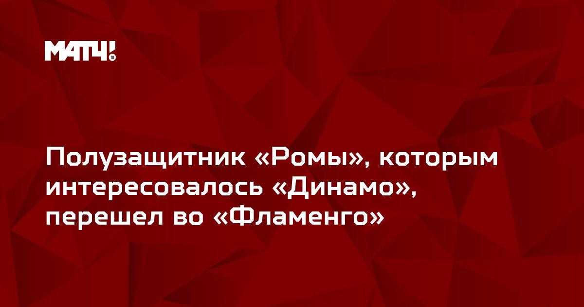 Полузащитник «Ромы», которым интересовалось «Динамо», перешел во «Фламенго»