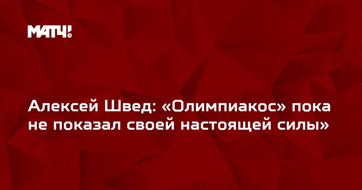 Алексей Швед: «Олимпиакос» пока не показал своей настоящей силы»