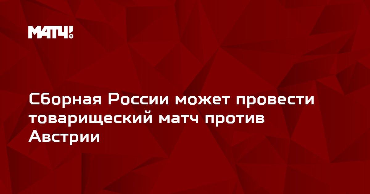 Сборная России может провести товарищеский матч против Австрии