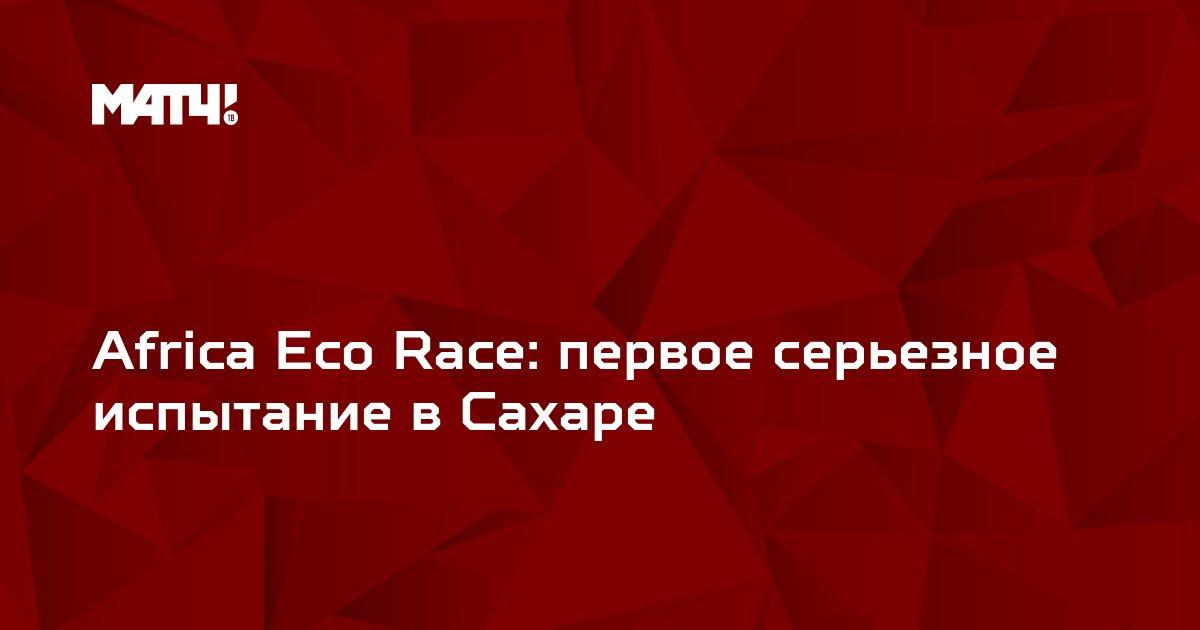 Africa Eco Race: первое серьезное испытание в Сахаре