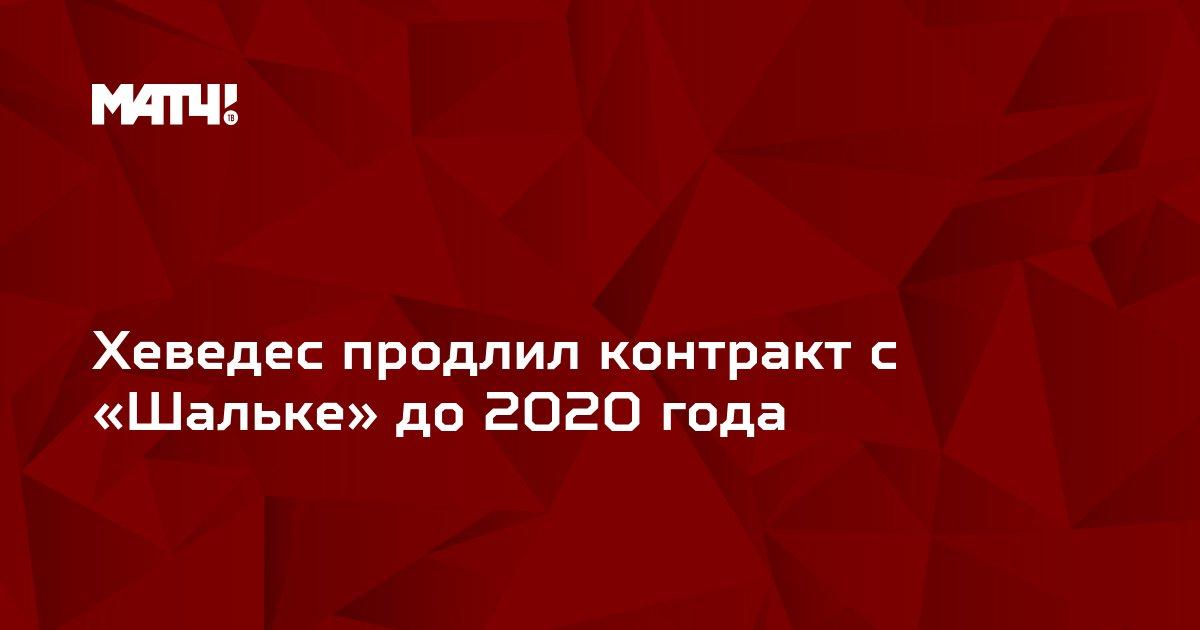 Хеведес продлил контракт с «Шальке» до 2020 года