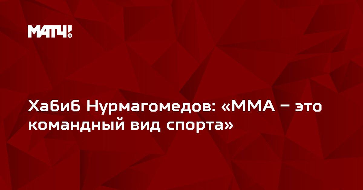 Хабиб Нурмагомедов: «ММА – это командный вид спорта»