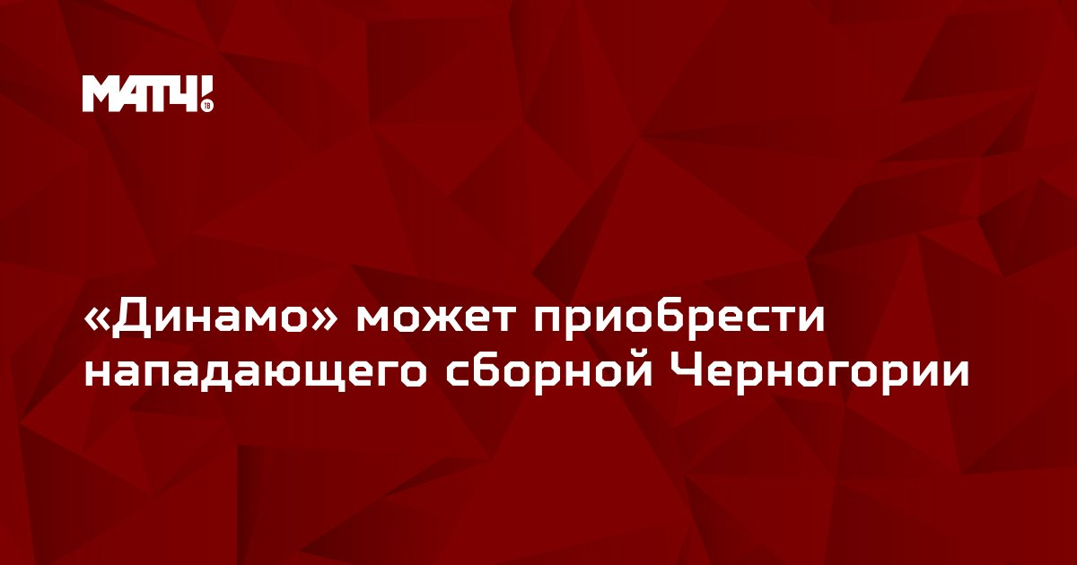«Динамо» может приобрести нападающего сборной Черногории