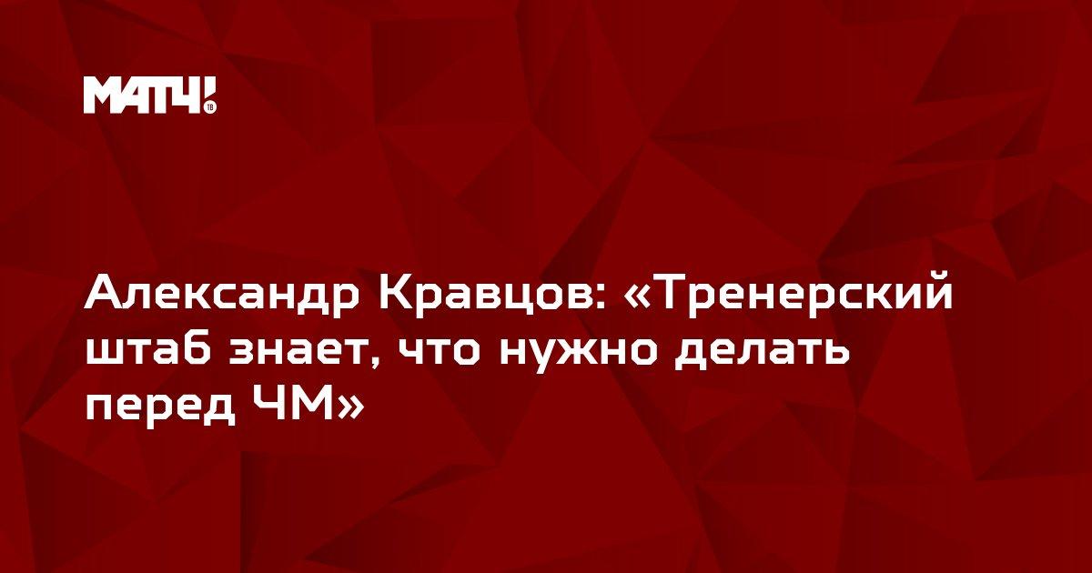 Александр Кравцов: «Тренерский штаб знает, что нужно делать перед ЧМ»