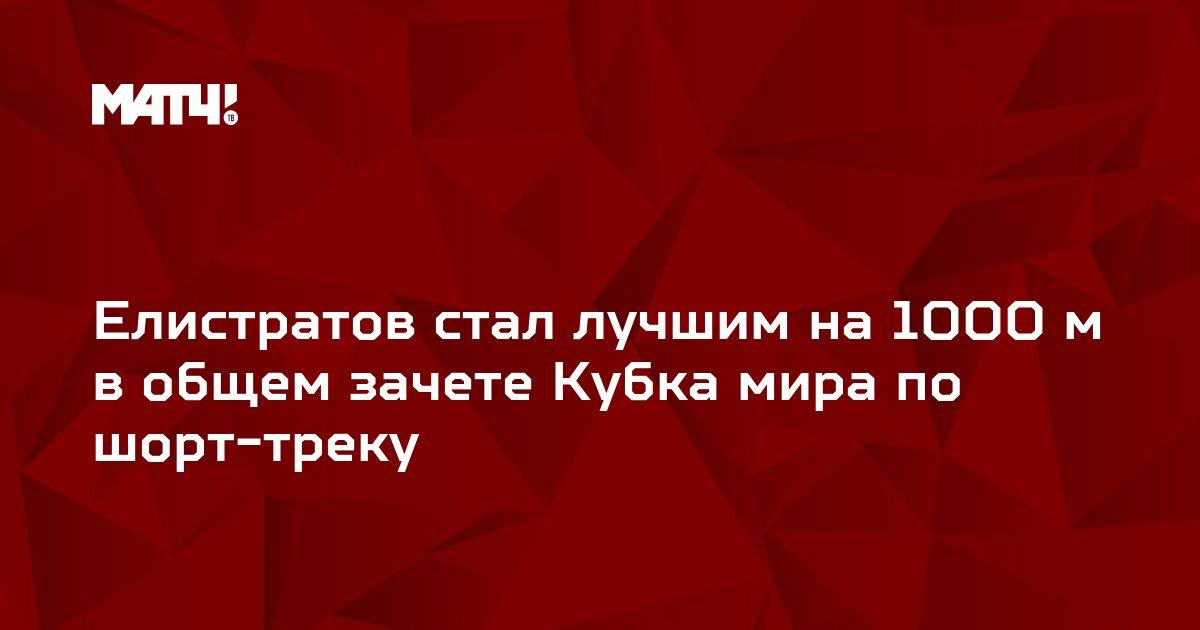 Елистратов стал лучшим на 1000 м в общем зачете Кубка мира по шорт-треку