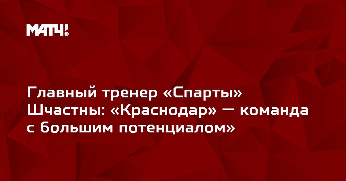 Главный тренер «Спарты» Шчастны: «Краснодар» — команда с большим потенциалом»