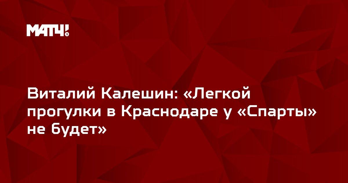 Виталий Калешин: «Легкой прогулки в Краснодаре у «Спарты» не будет»