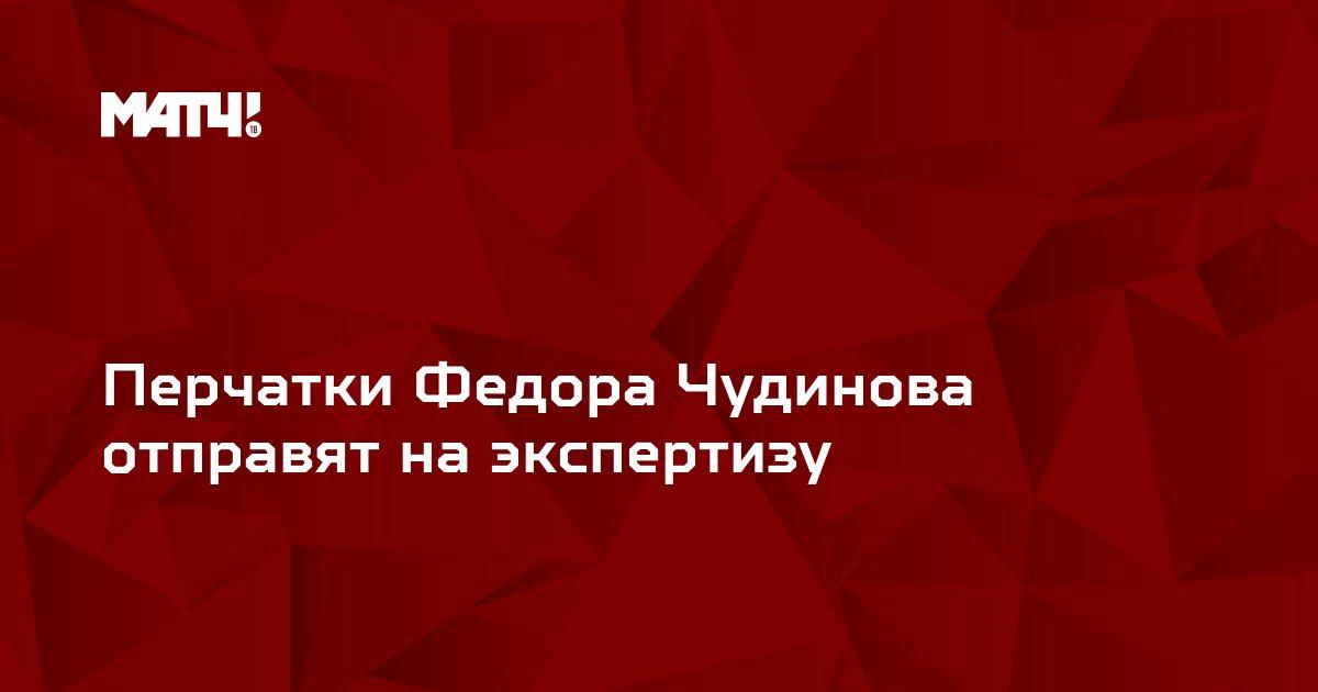 Перчатки Федора Чудинова отправят на экспертизу