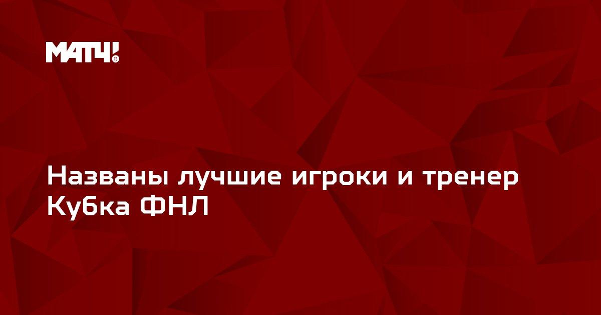 Названы лучшие игроки и тренер Кубка ФНЛ