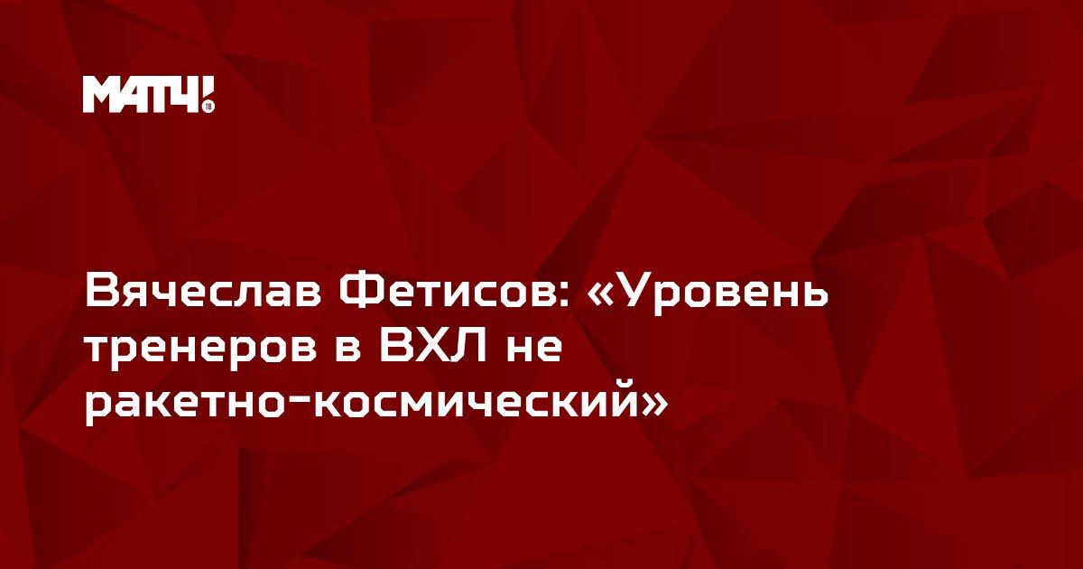 Вячеслав Фетисов: «Уровень тренеров в ВХЛ не ракетно-космический»