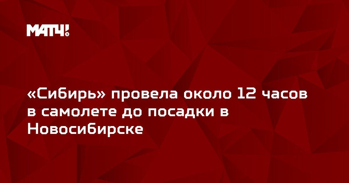 «Сибирь» провела около 12 часов в самолете до посадки в Новосибирске