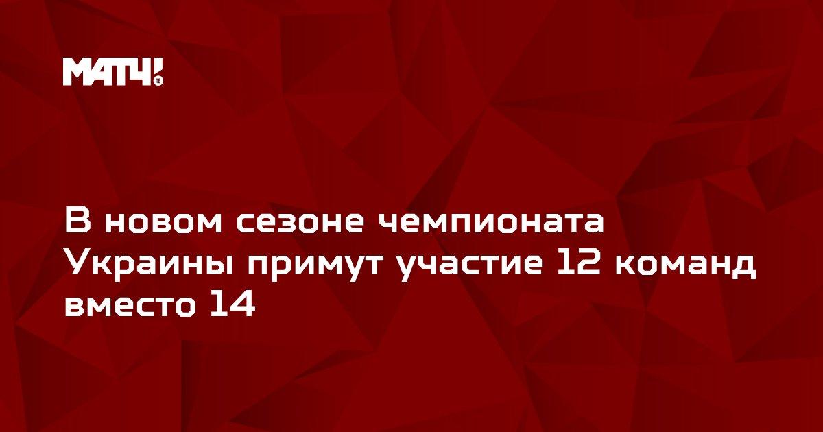 В новом сезоне чемпионата Украины примут участие 12 команд вместо 14