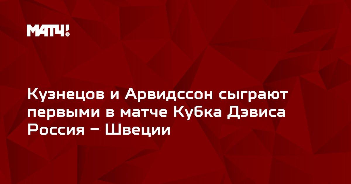 Кузнецов и Арвидссон сыграют первыми в матче Кубка Дэвиса  Россия – Швеции
