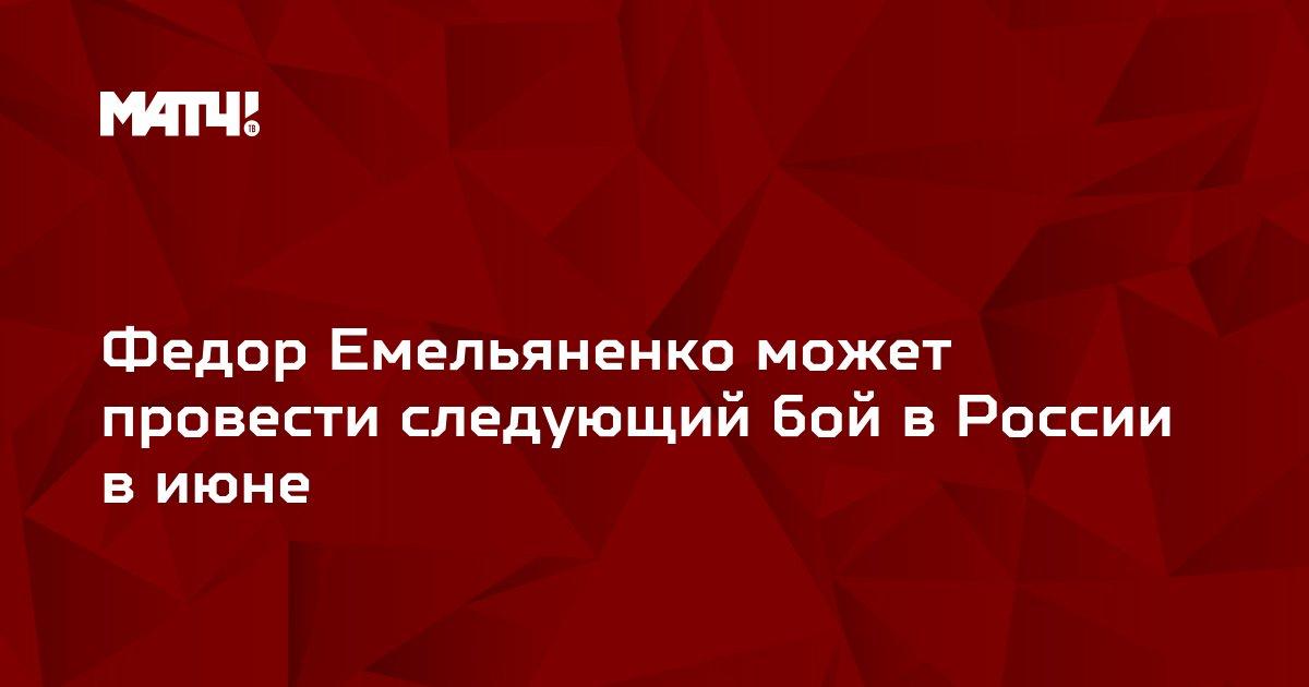 Федор Емельяненко может провести следующий бой в России в июне