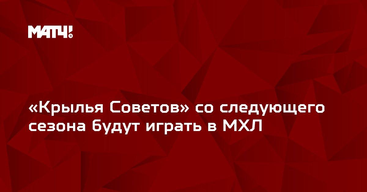 «Крылья Советов» со следующего сезона будут играть в МХЛ