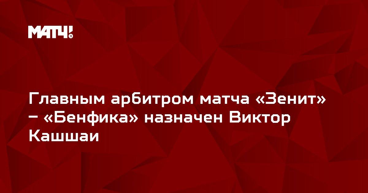 Главным арбитром матча «Зенит» – «Бенфика» назначен Виктор Кашшаи