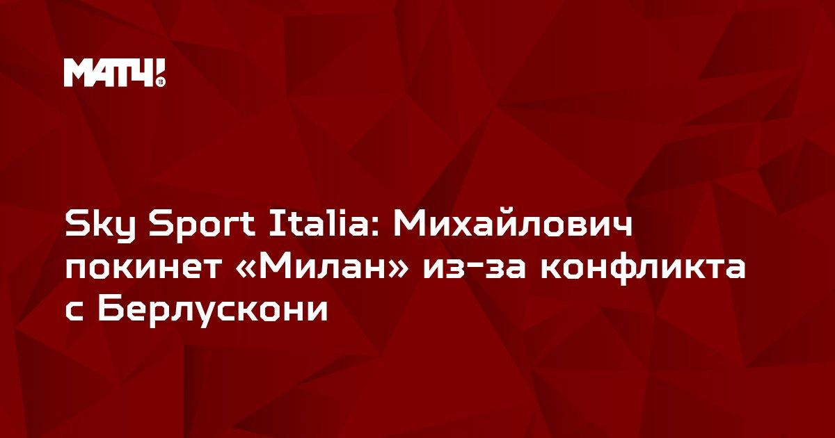 Sky Sport Italia: Михайлович покинет «Милан» из-за конфликта с Берлускони