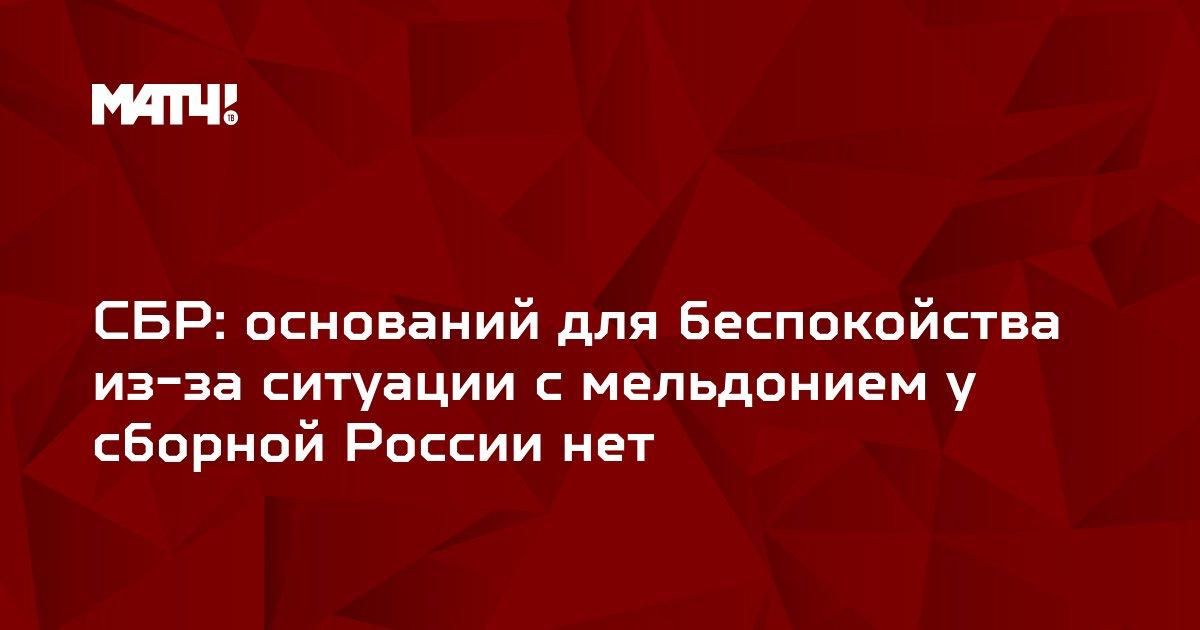 СБР: оснований для беспокойства из-за ситуации с мельдонием у сборной России нет
