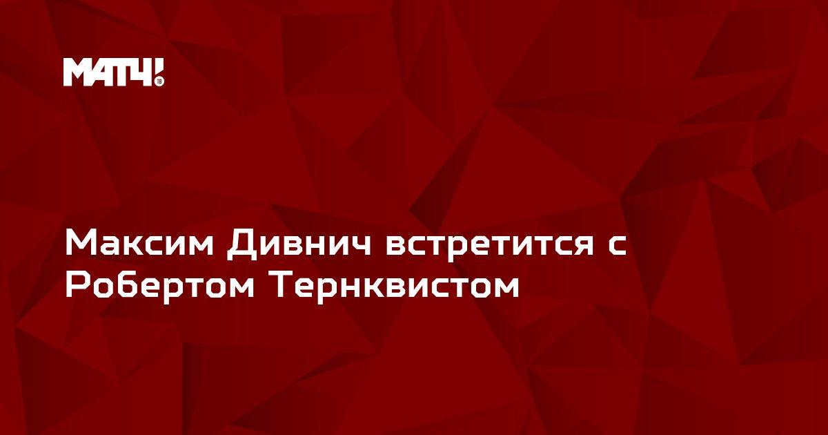 Максим Дивнич встретится с Робертом Тернквистом