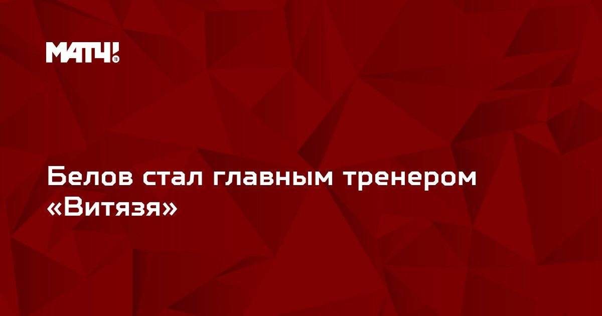 Белов стал главным тренером «Витязя»