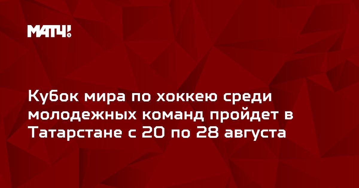 Кубок мира по хоккею среди молодежных команд пройдет в Татарстане с 20 по 28 августа