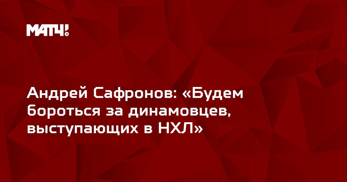 Андрей Сафронов: «Будем бороться за динамовцев, выступающих в НХЛ»