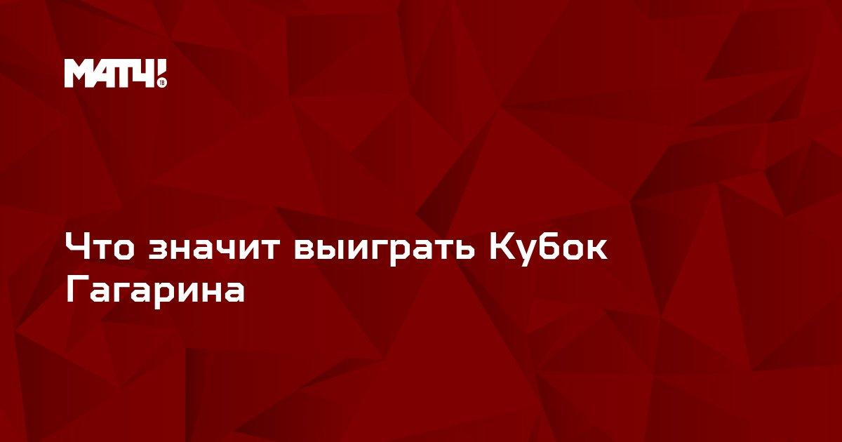 Что значит выиграть Кубок Гагарина