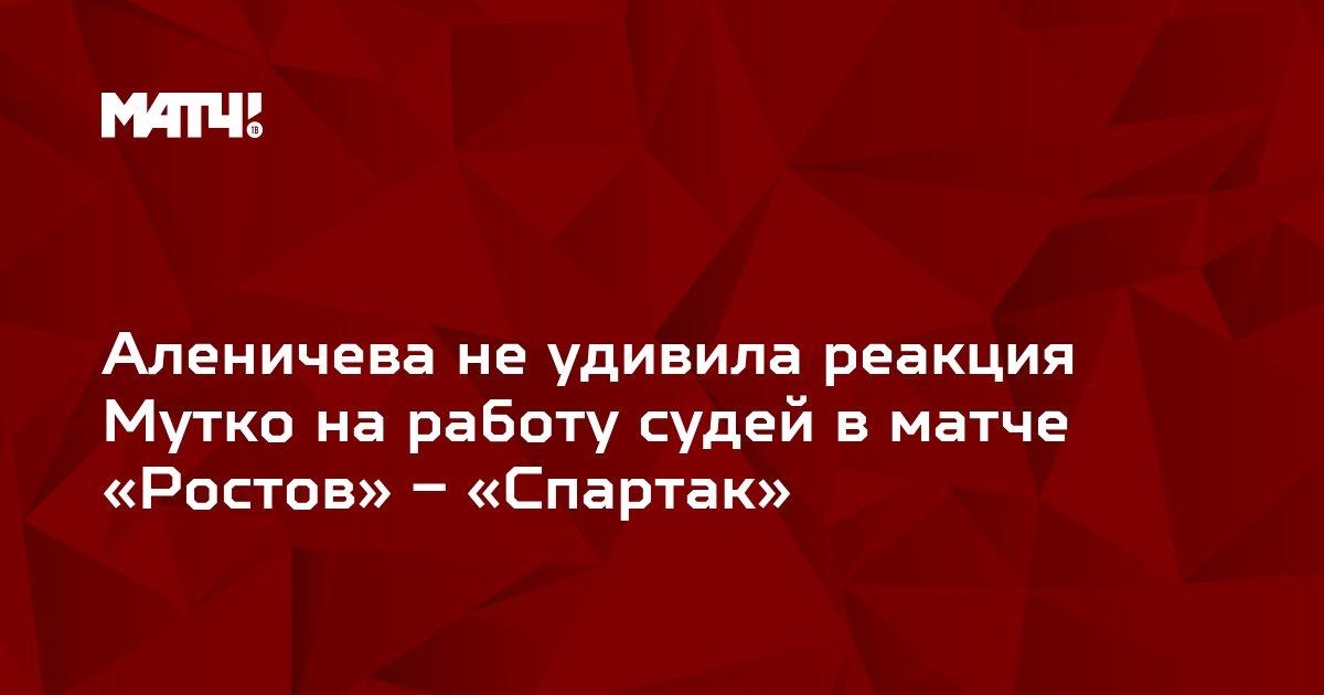 Аленичева не удивила реакция Мутко на работу судей в матче «Ростов» – «Спартак»