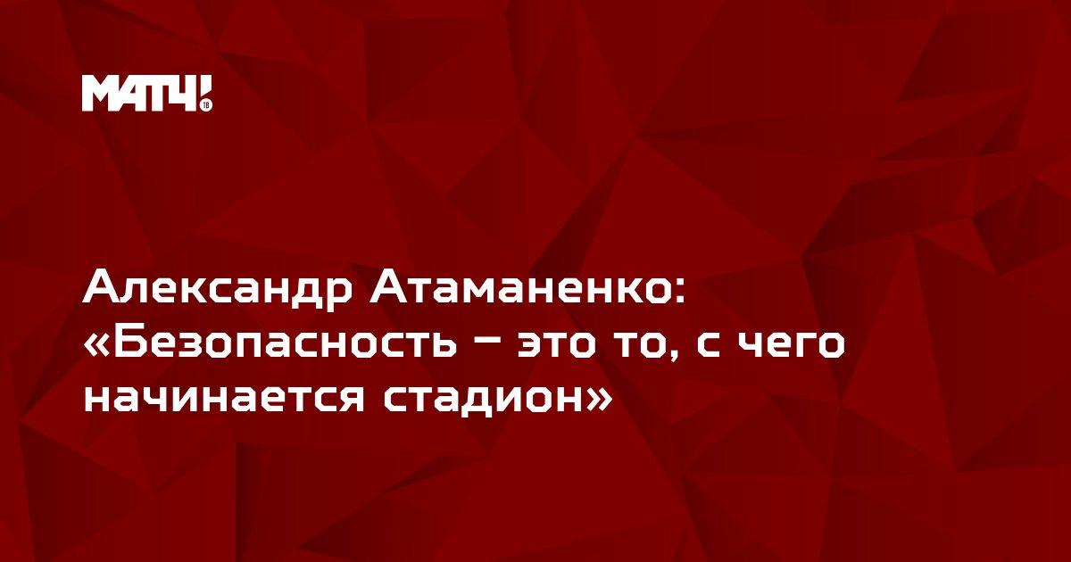 Александр Атаманенко:  «Безопасность – это то, с чего начинается стадион»