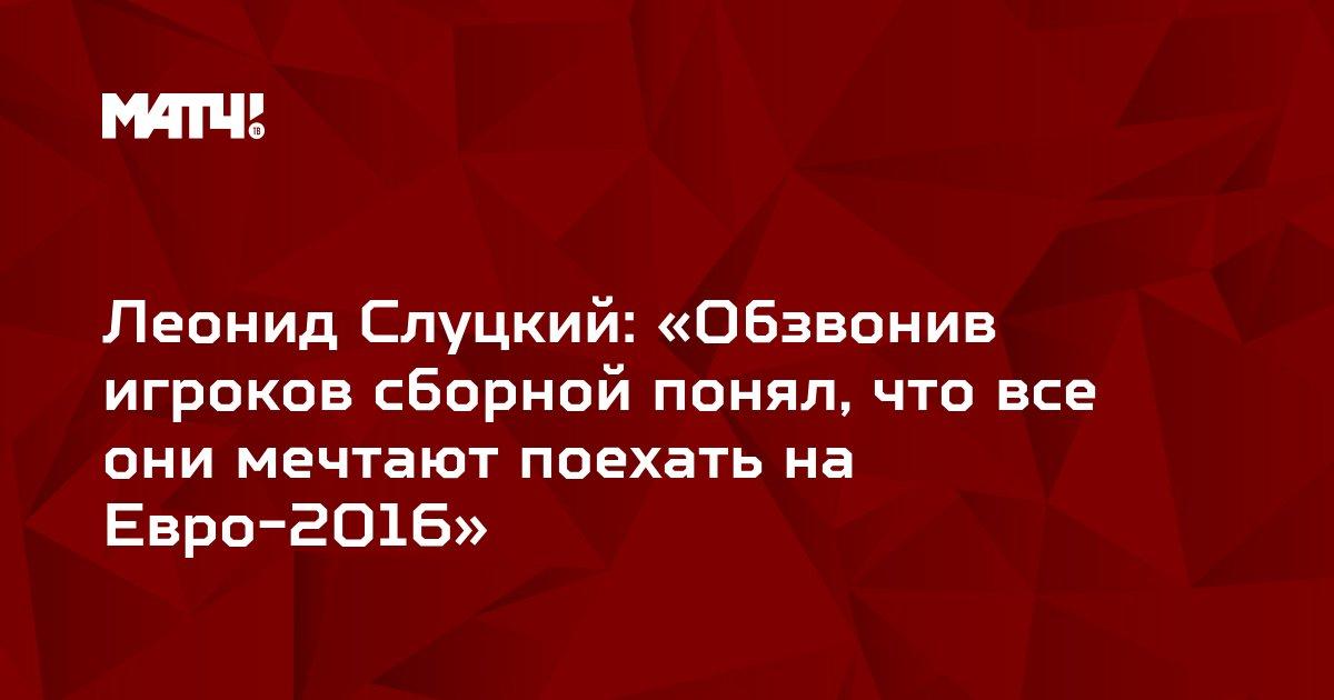 Леонид Слуцкий: «Обзвонив игроков сборной понял, что все они мечтают поехать на Евро-2016»