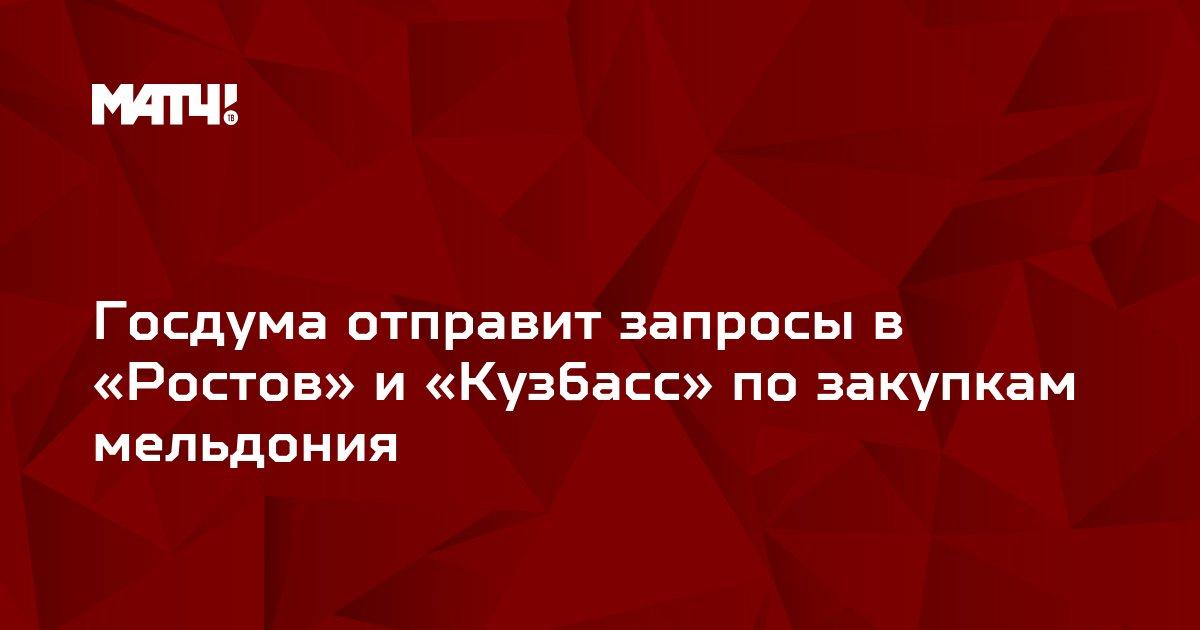 Госдума отправит запросы в «Ростов» и «Кузбасс» по закупкам мельдония