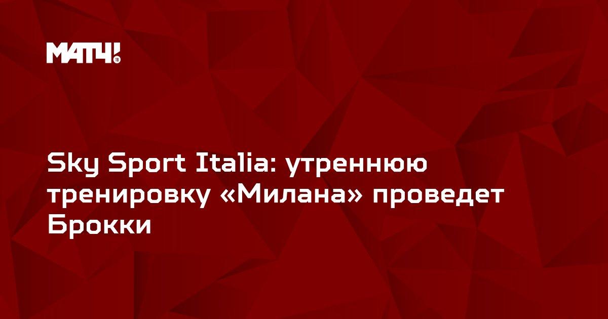 Sky Sport Italia: утреннюю тренировку «Милана» проведет Брокки