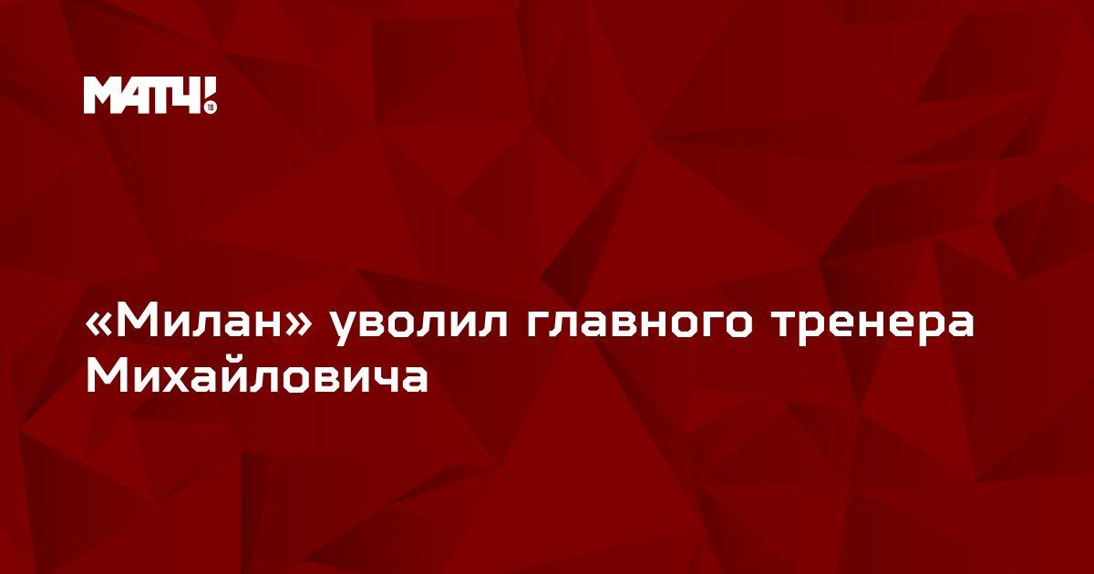 «Милан» уволил главного тренера Михайловича