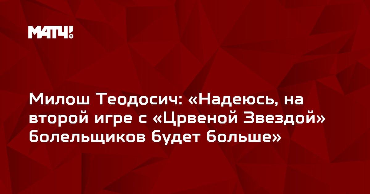 Милош Теодосич: «Надеюсь, на второй игре с «Црвеной Звездой» болельщиков будет больше»