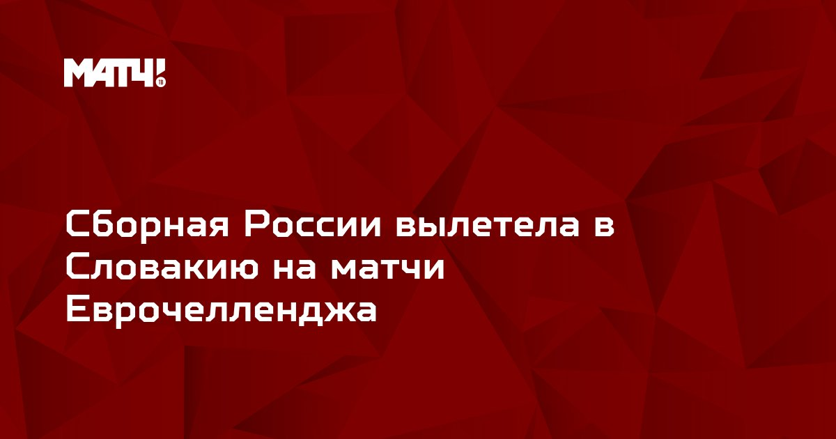 Сборная России вылетела в Словакию на матчи Еврочелленджа
